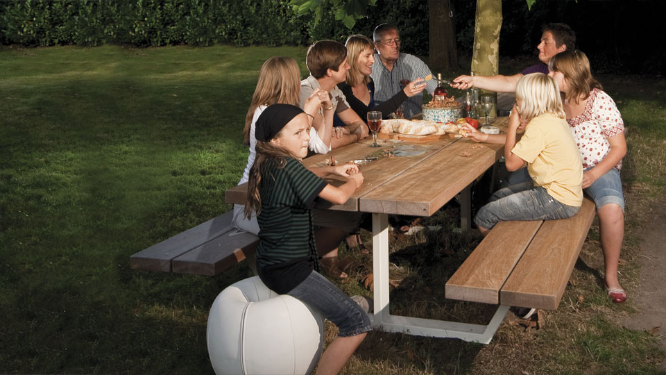 cassecroute picknicktafel in iroko