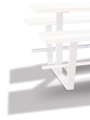beer table - hoge picknicktafel - witte balken witte onderstellen