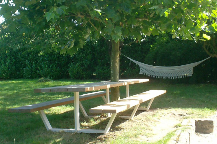 Tuintafel Rond Boom.Cassecroute Table Picnic Table Cassecroute Handgemaakte