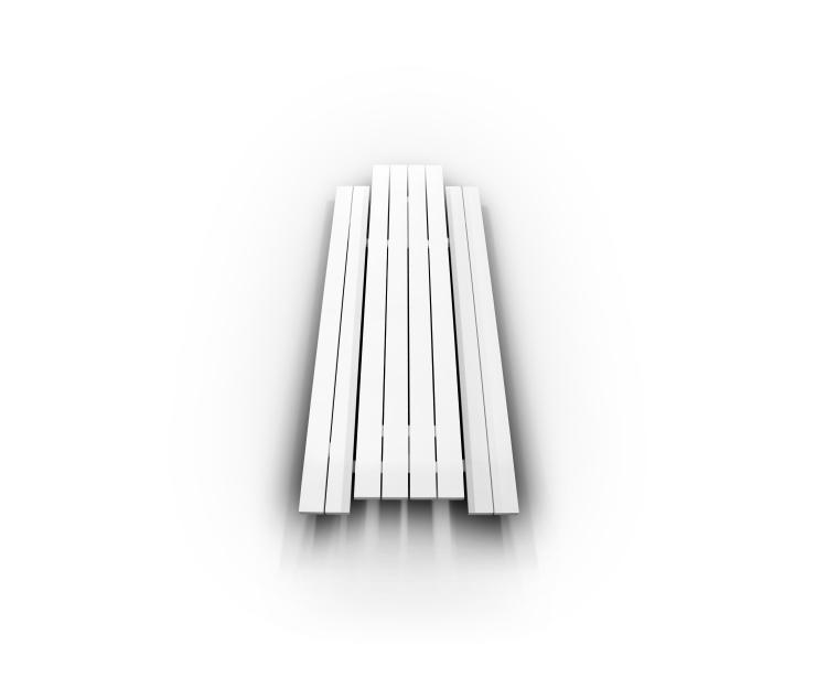 cassecroute picknickbank picknicktafel aluminium design 6 meter wit grijs