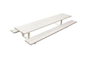 picknickbank picknicktafel aluminium design 6 meter wit grijs
