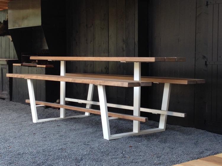 Beer Table 300cm, hoge houten picknicktafel 2