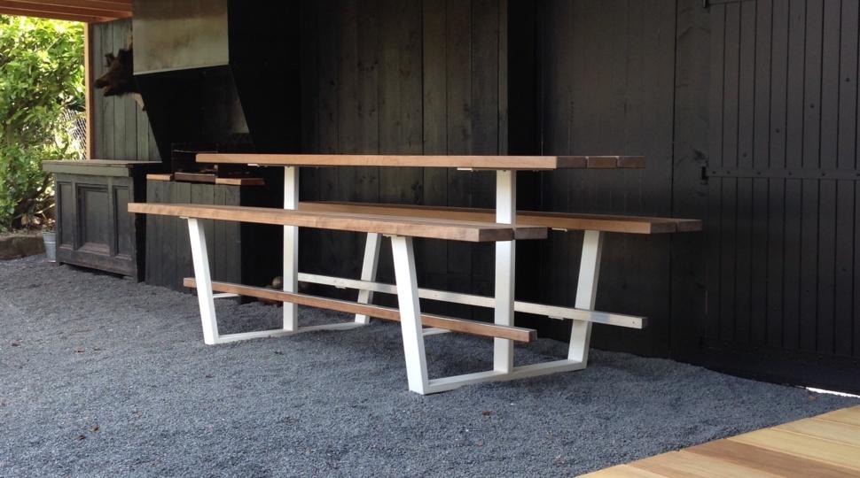 Beer Table 300cm, hoge houten picknicktafel