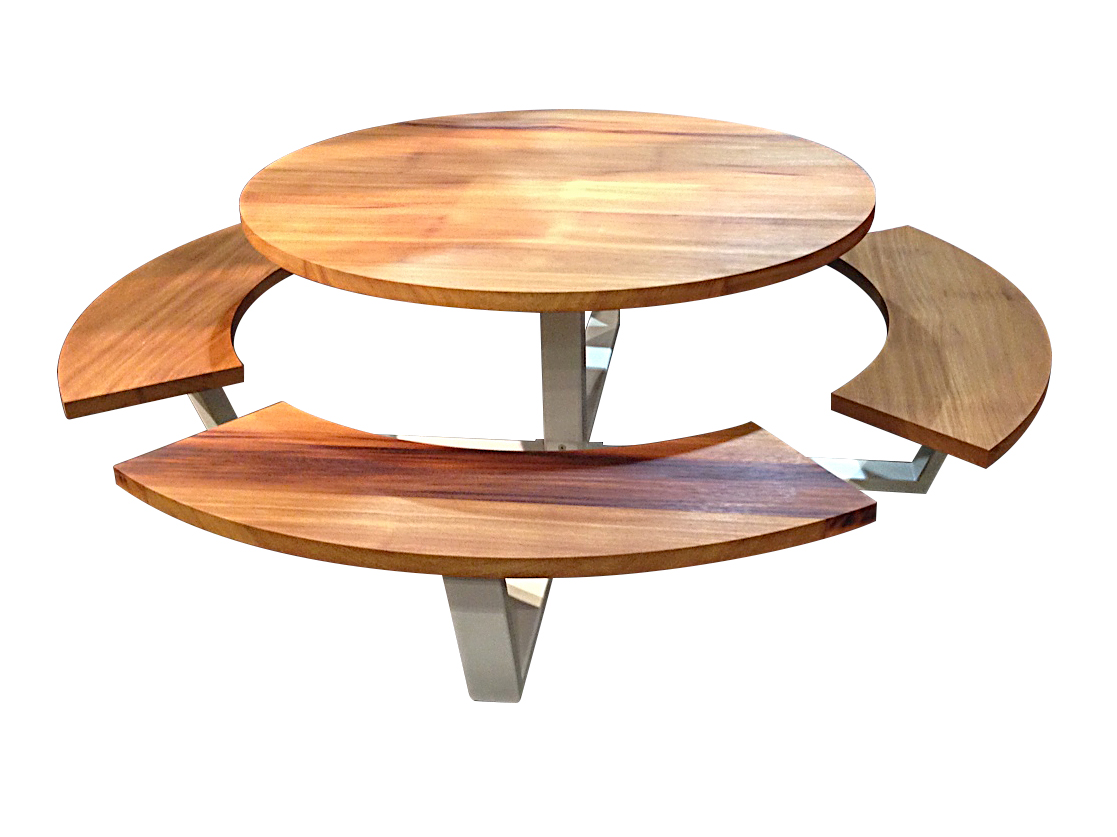 Wood picnic table free oval picnic table custom oval - Table picnic bois enfant ...