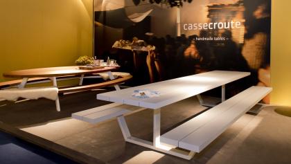 Cassecroute Table Aluminium 360cm, grijs 1
