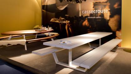 Cassecroute Table Aluminium 360cm, grijs