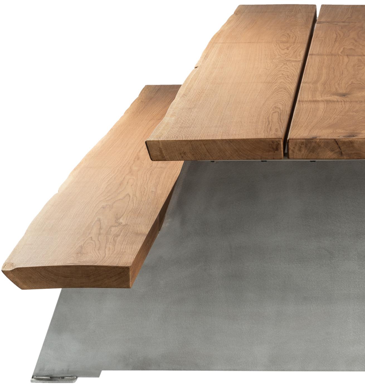 Tables de pique-nique fait main • cassecroute • bois et aluminium
